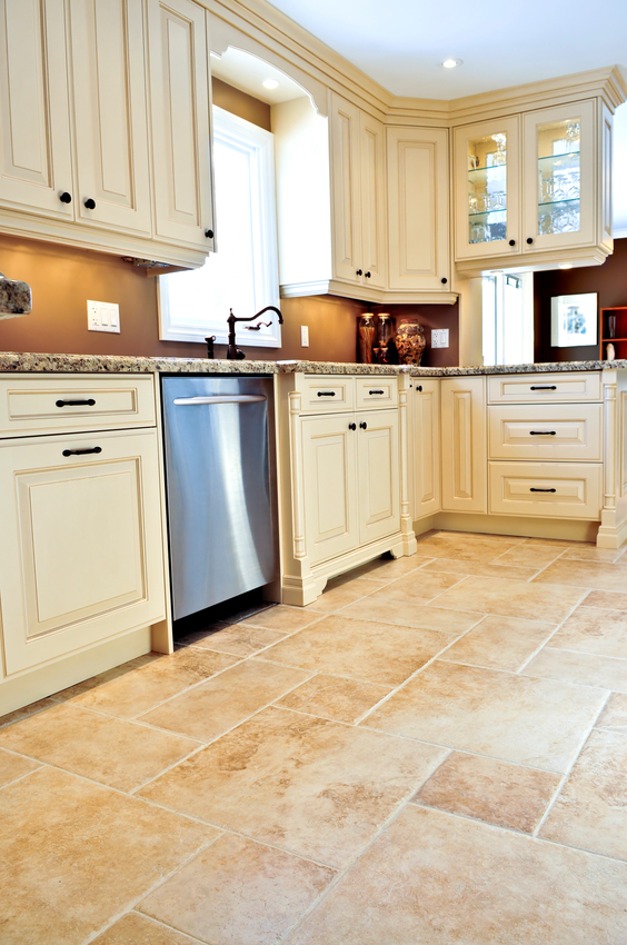 Popular kitchen flooring options through the years for Flooring kitchen options