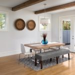 dining room in home with open floorplan